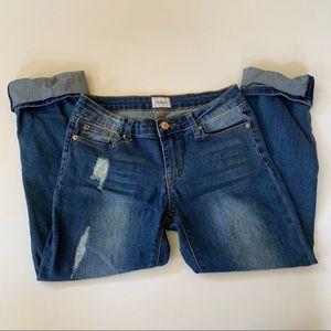 Hudson Girls Cuffed Hem Jeans Size 16